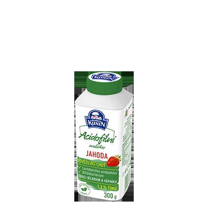 Acidofilní mléko Jahoda