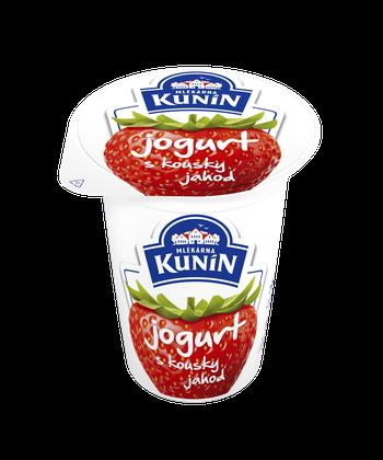 Jogurt s kousky jahod