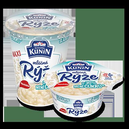 Mléčná rýže se sníženým obsahem cukru
