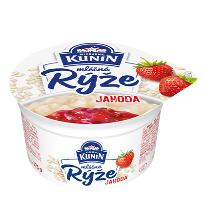 Mléčná rýže Jahoda