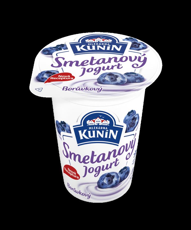 Smetanový jogurt borůvka