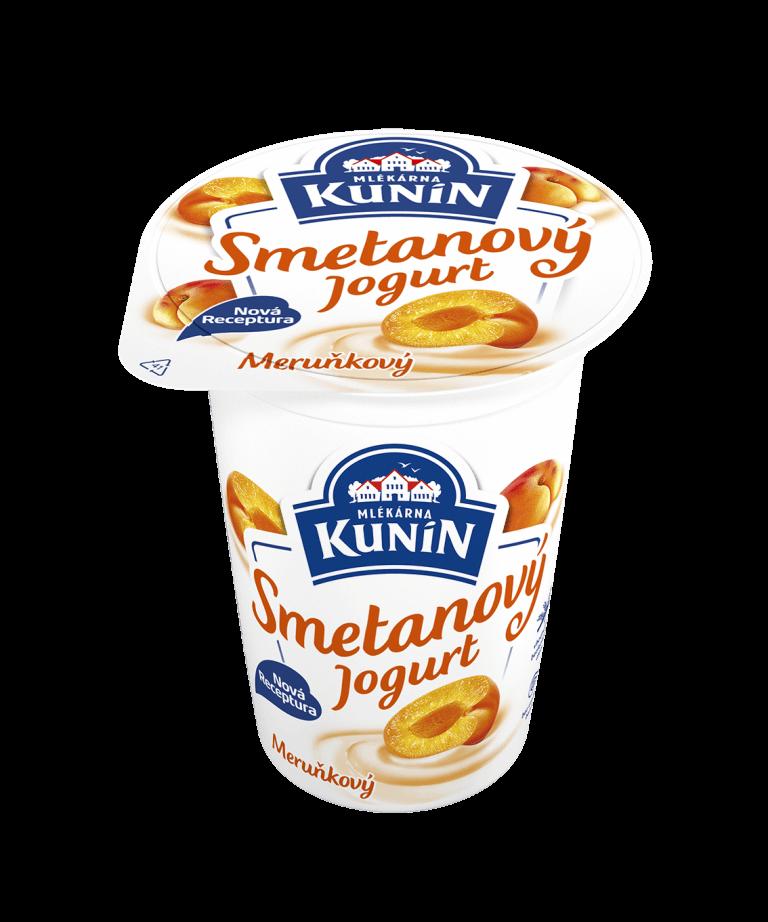 Smetanový jogurt meruňka