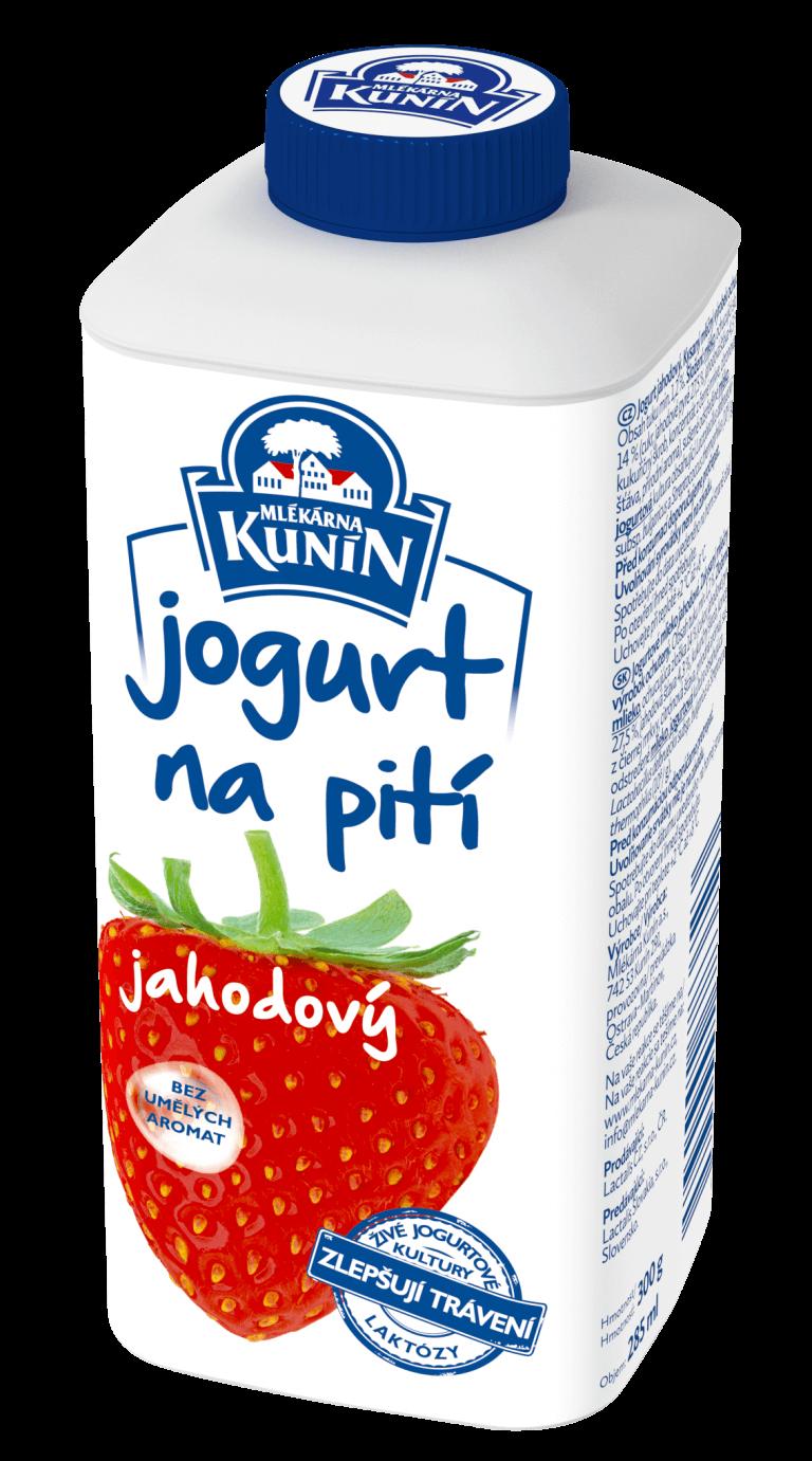 Jogurt na pití jahodový