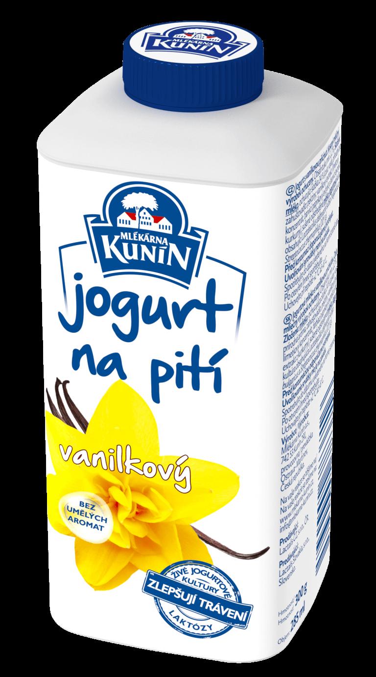Jogurt na pití vanilkový